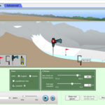 PhET Glacier simulation