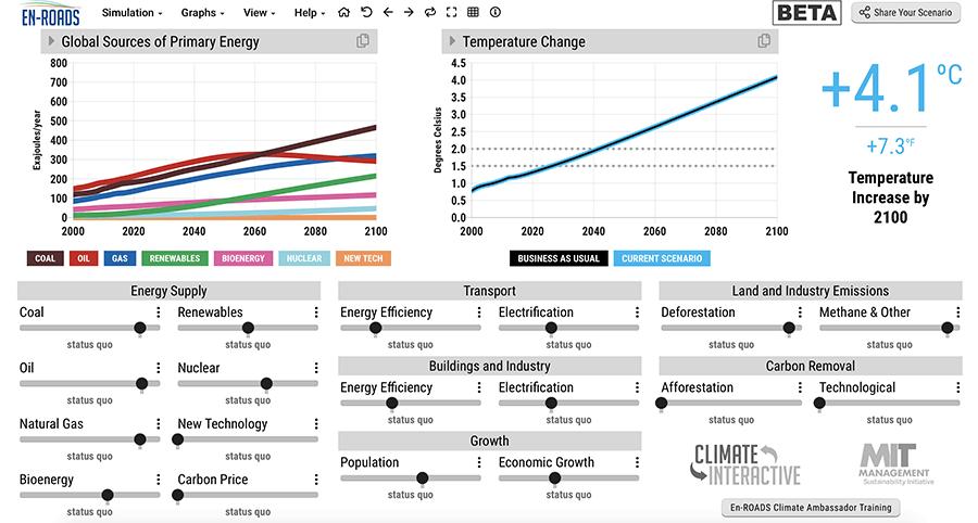 Climate Interactive En-ROADS Simulation Model