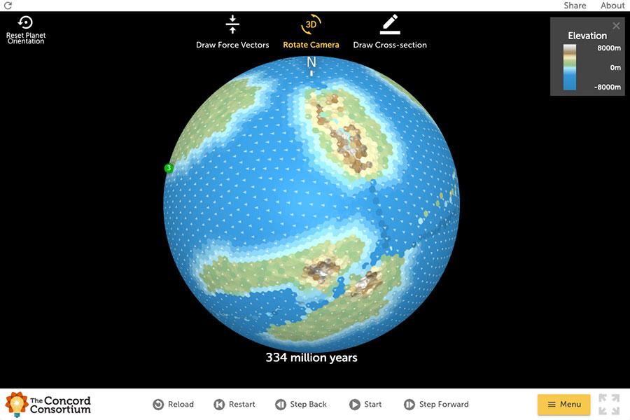 Concord Consortium - Tectonic Explorer