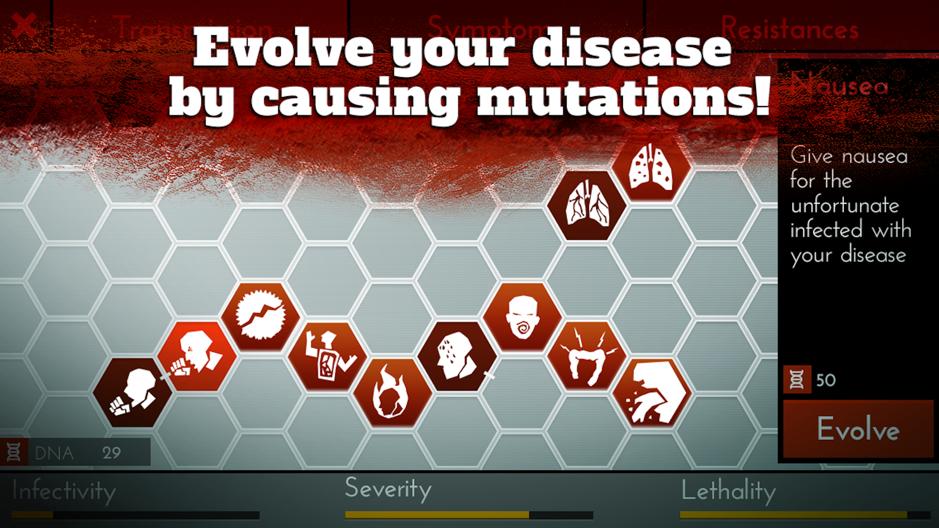 Infection - Bio War - disease traits matrix