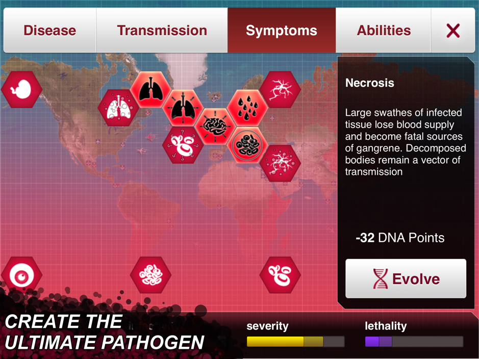 Plague Inc. Disease Traits Matrix