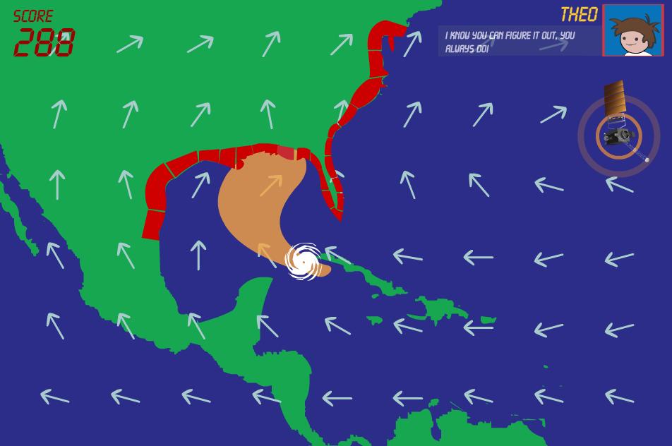 SciJinks Hurricane Hero game - screenshot