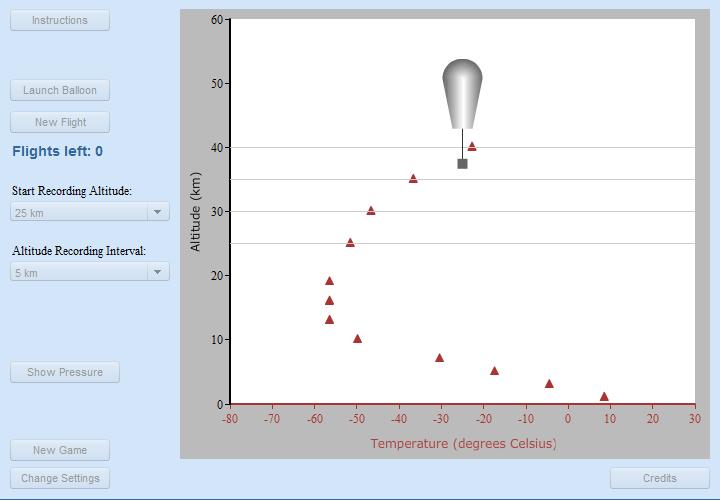 Virtual Ballooning simulation screenshot